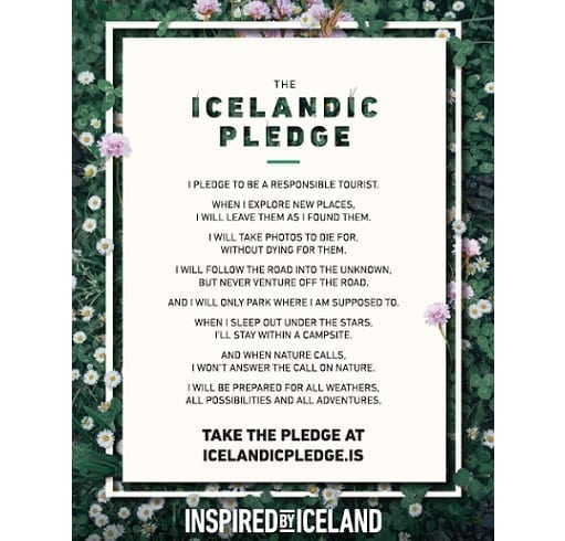 Iceland encourages responsible tourism with Pledge Button