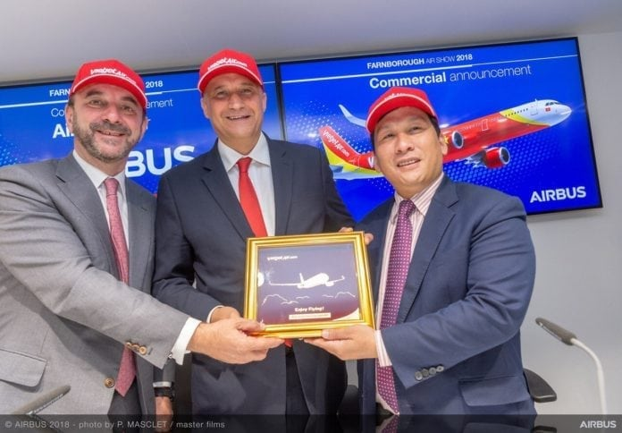 Vietjet and Airbus Ink Deal for 50 A321neo Aircraft at Farnborough Airshow
