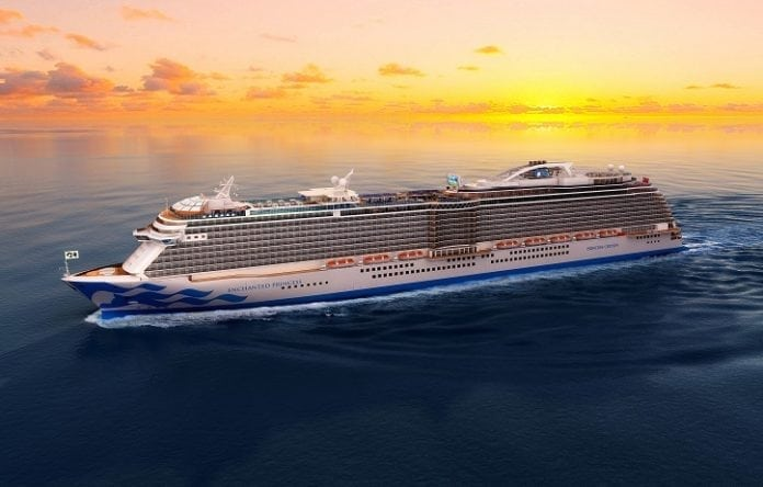 Princess Cruises announces name of fifth Royal-Class ship