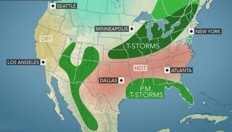 US Labor Day weekend: Storms may threaten travel plans in Midwest, South