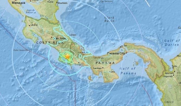 Earthquake rattles Costa Rica
