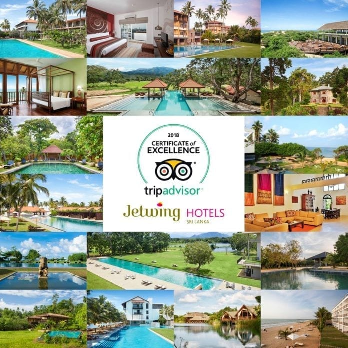 Jetwing Hotels bags 18 TripAdvisor Certificates of Excellence