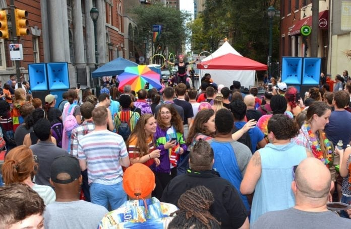 "Where is the largest ""National Coming Out Day"" festival in the world?"
