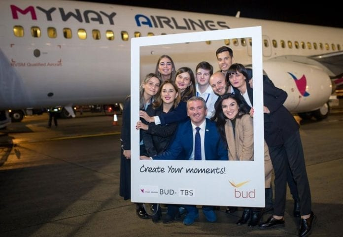 Budapest Airport welcomes winter with Georgian Myway Airlines