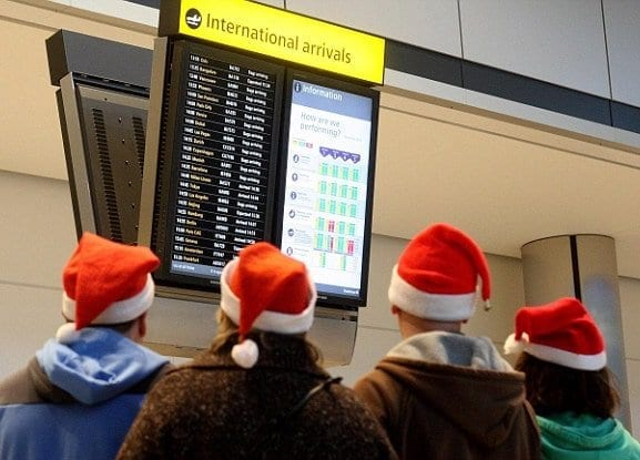 Best & worst times to fly for Thanksgiving & Christmas revealed