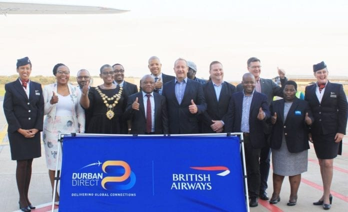 London to Durban now on British Airways