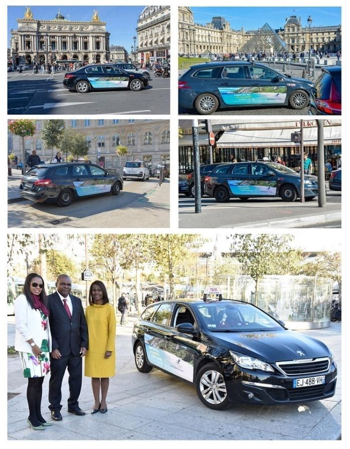 Seychelles Tourism Board launched another branded taxi campaign in French capital Paris