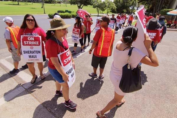 Kyo-ya's Sheraton Maui trespasses 3 employees over strike leaflets