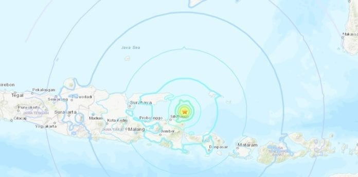 Bali Indonesia struck by 6.0 magnitude earthquake
