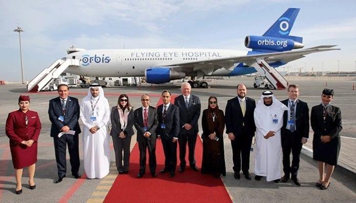 Qatar Airways hosts tours on board the Orbis Flying Eye Hospital in Doha