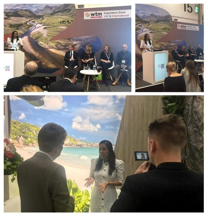 Seychelles Tourism Board Chief speaks on Environmental Protection Panel at WTM