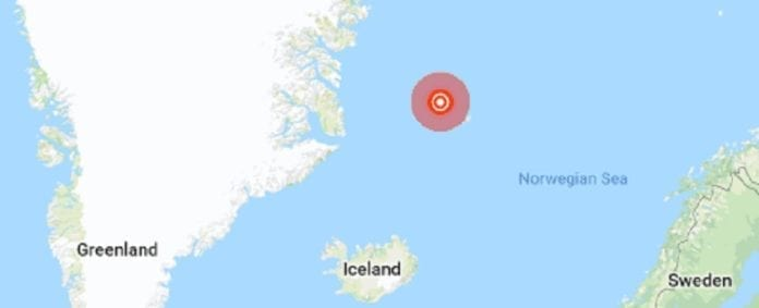 Strong 6.8 earthquake strikes Jan Mayen Island region