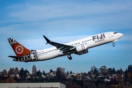 Boeing delivers Fiji Airways' first 737 MAX jet