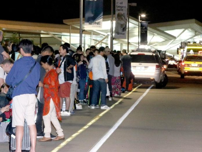 Brisbane International Airport evacuated over bomb scare