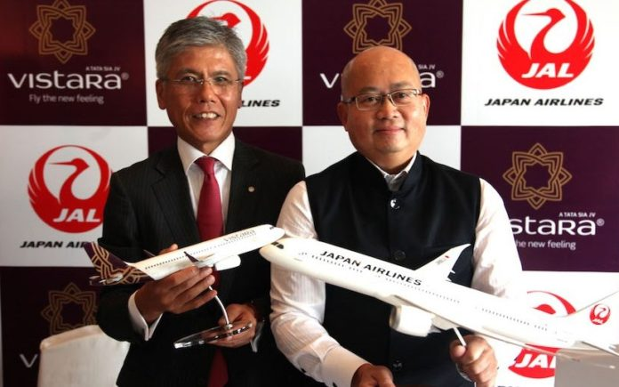 Japan Airlines and Vistara sign codeshare agreement