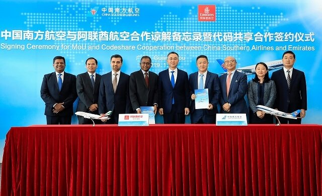 China Southern Airlines and Emirates sign codeshare agreement