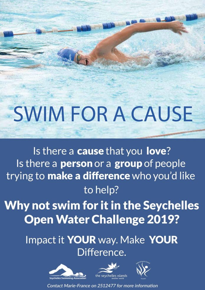 """Public generosity called upon to """"Swim for a Cause"""" –A Seychelles Open Water Challenge initiative"""