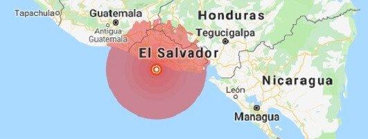 Strong earthquake rocks El Salvador