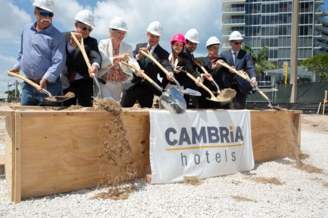 Beachfront Cambria hotel breaks ground in Fort Lauderdale