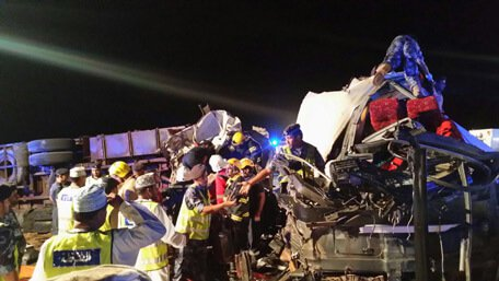 17 passengers killed, 9 injured in Muscat-Dubai bus crash in UAE