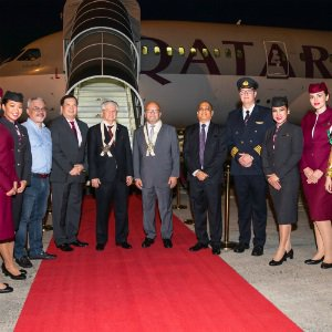 Qatar Airways touches down in Davao, Philippines