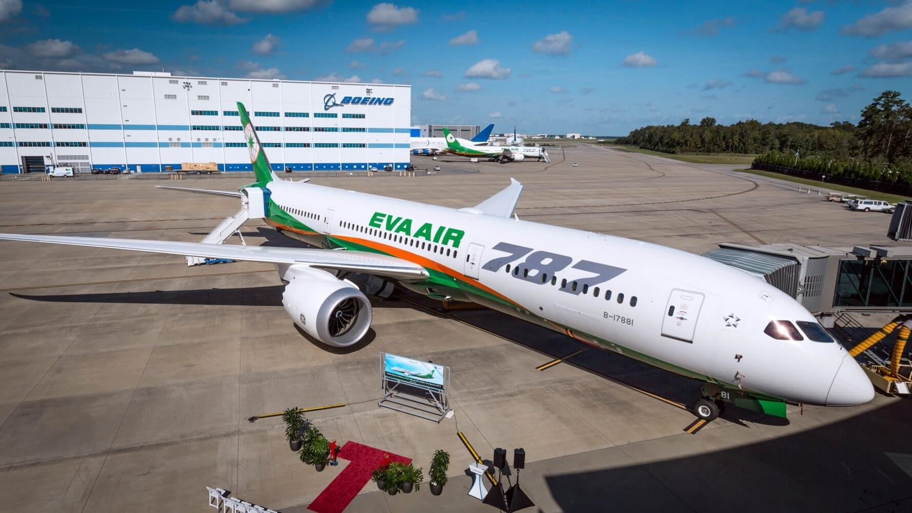 First Boeing 787-10 Dreamliner delivered to Taiwanese EVA Air