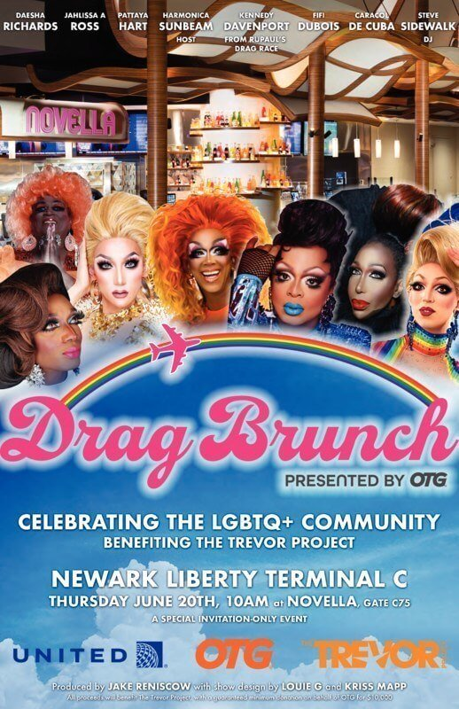 First ever airport drag brunch hosted by United Airlines & OTG