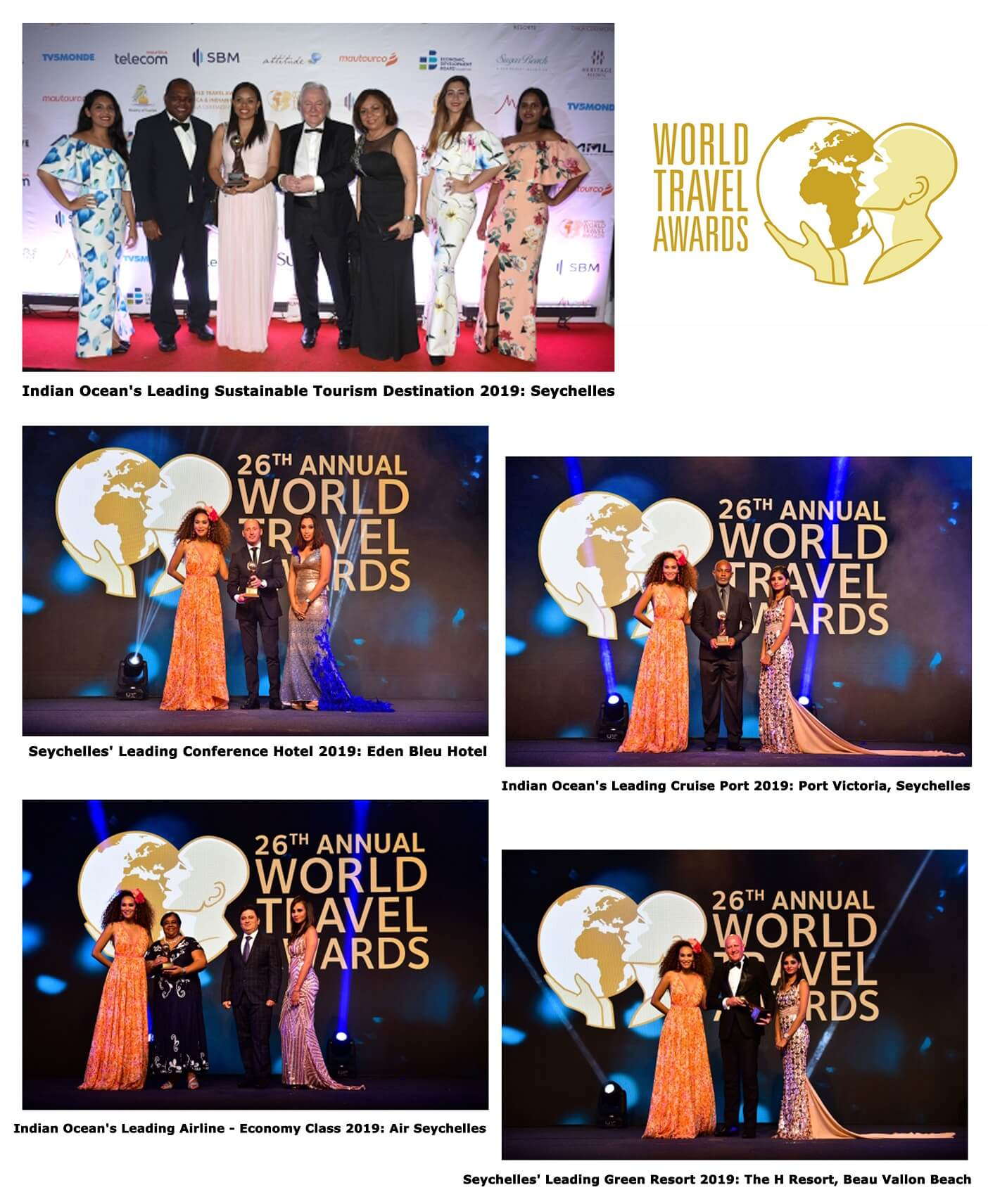 Seychelles' Best recognized at World Travel Awards in Mauritius