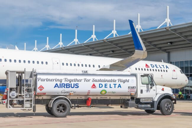 Airbus delivers Delta's 50th US-produced A321 powered with sustainable jet fuel