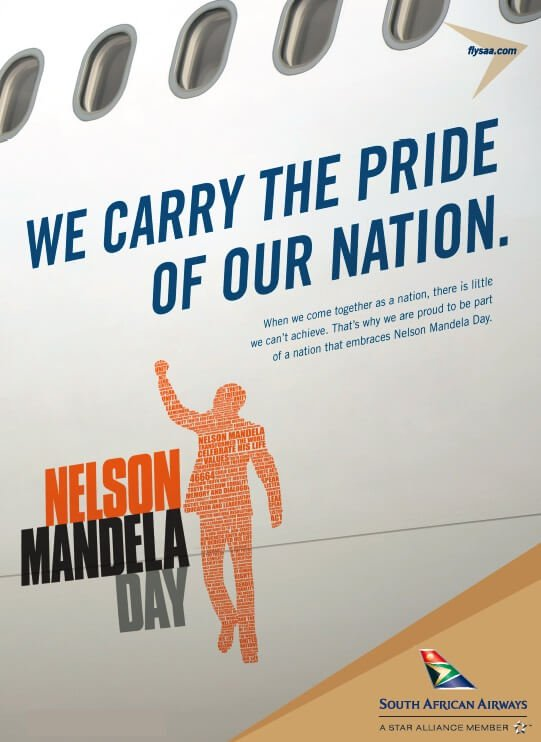 South African Airways' employees in North America commemorate Nelson Mandela Day