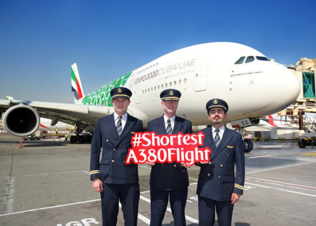 Shortest A380 flights in the world now two times a day between Dubai and Muscat