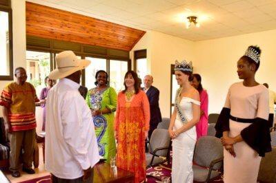 Uganda President and Tourism leaders hosts Miss World delegation