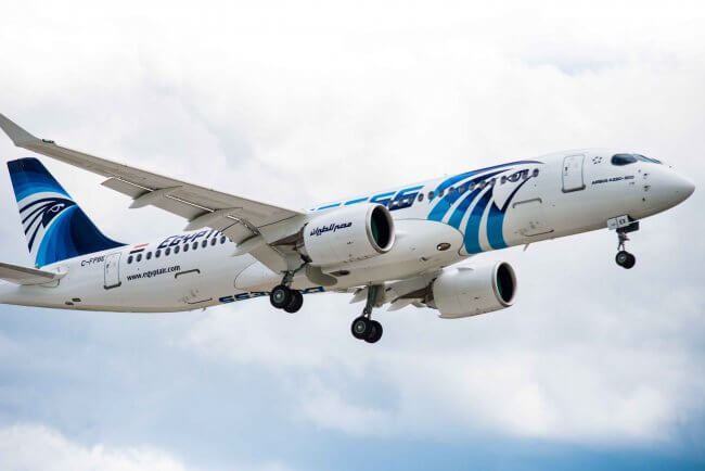 First Airbus A220-300 aircraft delivered to EgyptAir