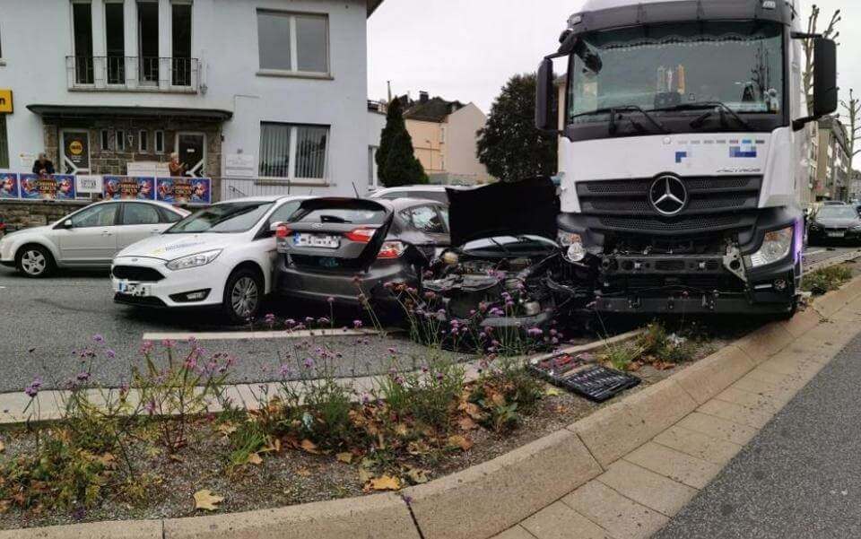 Accident or attack? 17 people injured as truck plows into traffic stop in Germany
