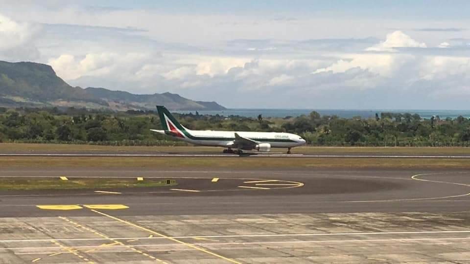 Omarjee Aviation with Alitalia in Mauritius