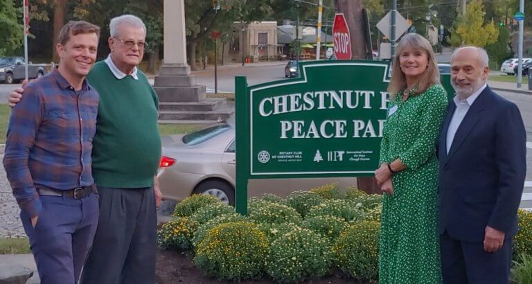 IIPT Peace Park Dedicated in Chestnut Hill