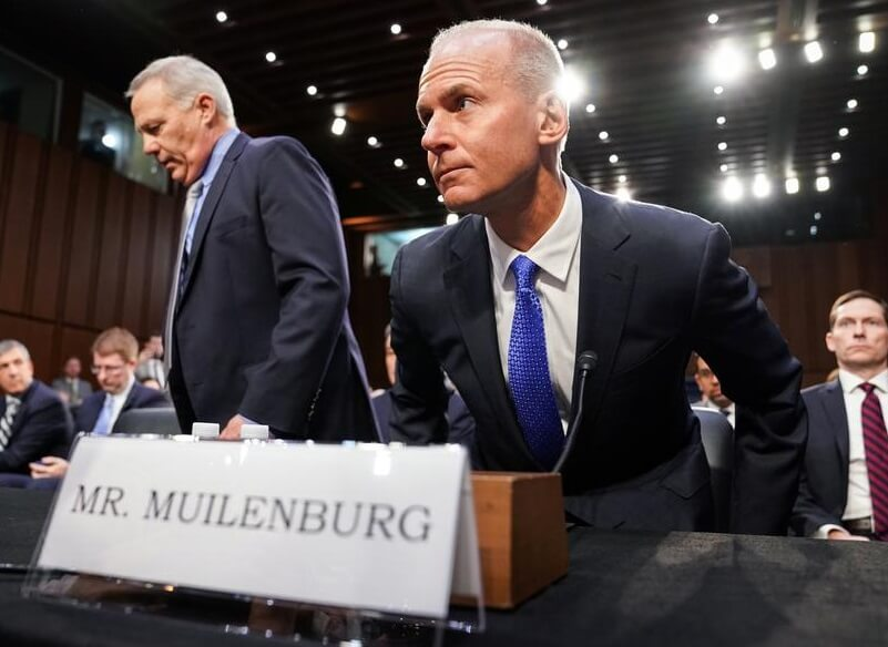 Boeing CEO gives up 2019 compensation, bonus in the wake of 737 MAX crashes