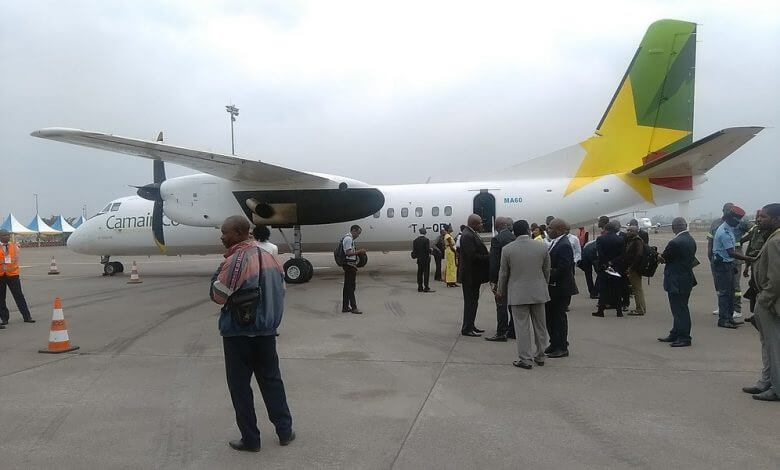 Cameroon Airlines aircraft under attack