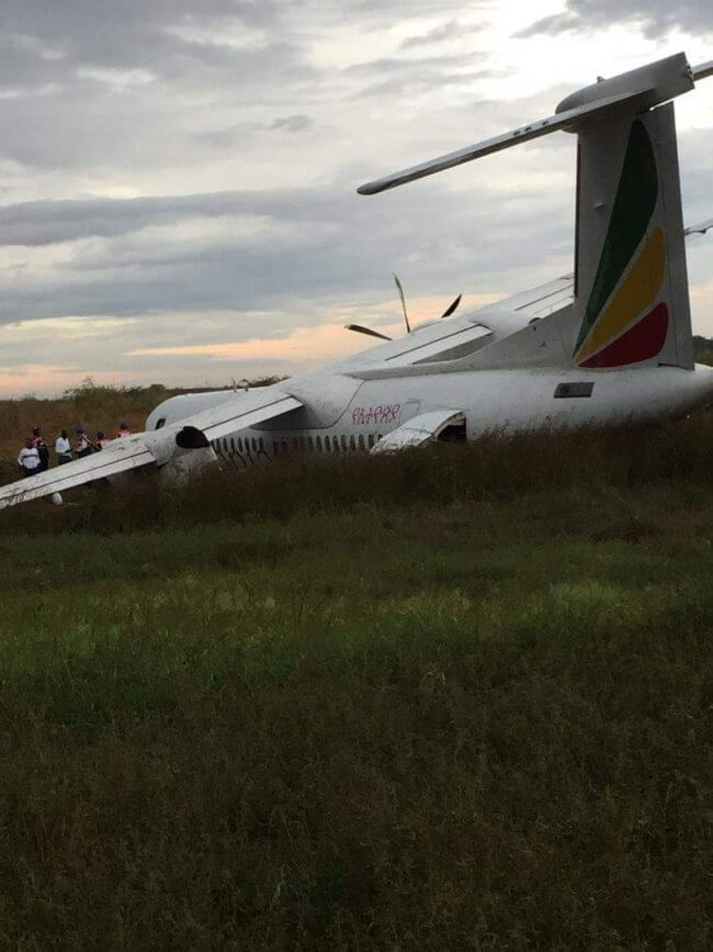 Ethiopian Airlines crashed with no injuries reported