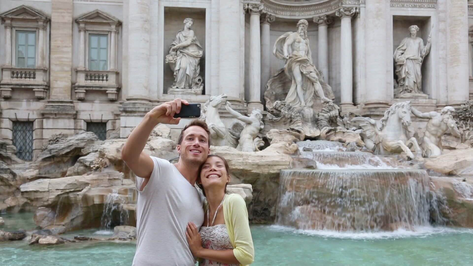 The eternal city of Rome ranks #1 on the selfie list