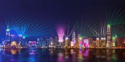 Hong Kong New Year Symphony of Light Show Dazzled