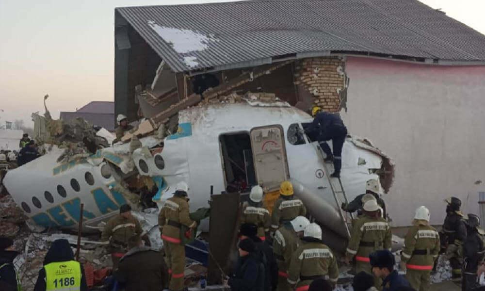 Bek Air Jet Crash Leaves at Least 14 Deade