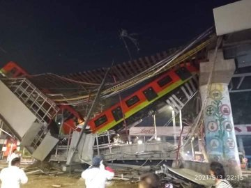 23 killed, 79 injured in Mexico City train overpass collapse