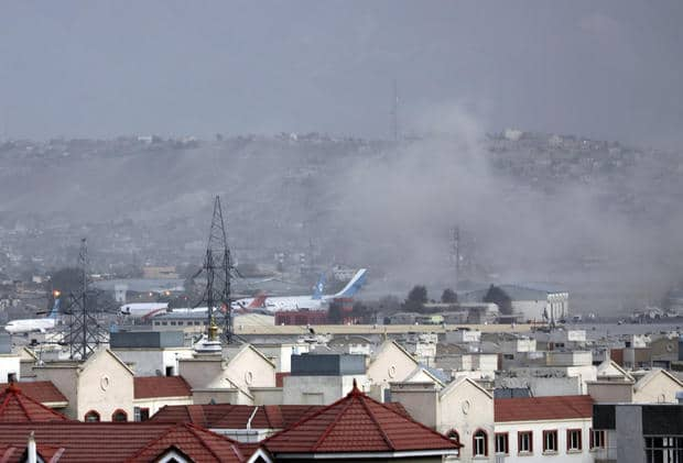 Second explosion reported at Kabul airport after 13 people killed in first bombing