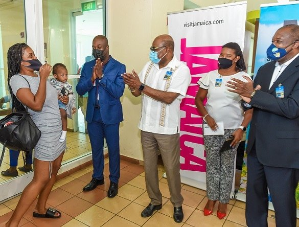 Jamaica welcomes 1 millionth visitor since start of COVID-19 pandemic