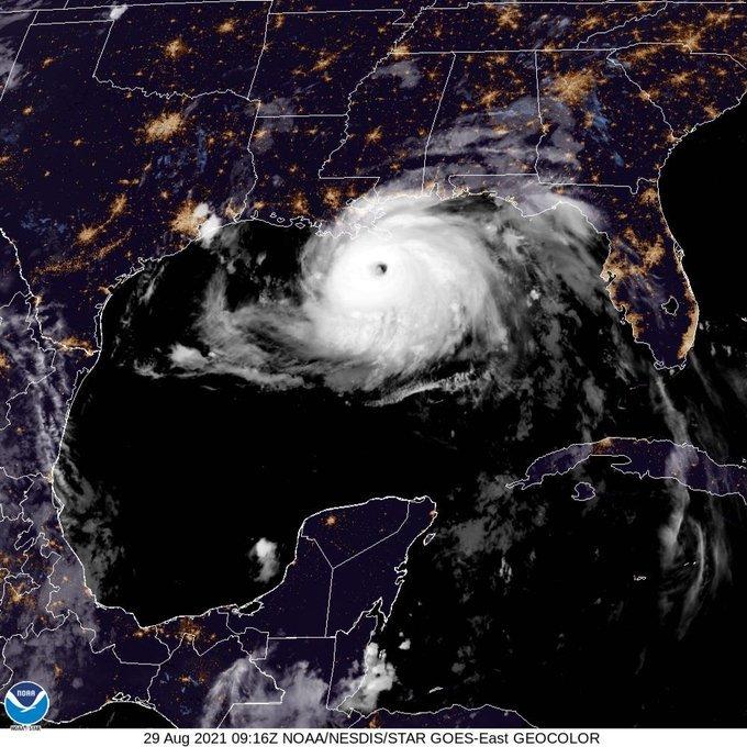Monster Hurricane Ida on Track for New Orleans Region